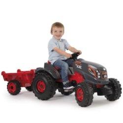 Smoby Трактор педальный XXL с прицепом (размер 161х59х56см, от 3х лет)