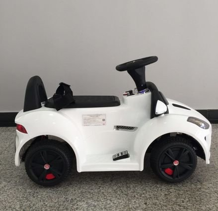 Электромобиль-каталка Dongma Jaguar F-Type Convertible White 6V 2.4G - DMD-238-W (музыка, пульт, свет фар, ремень, педаль газа)